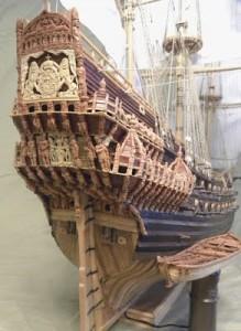 Vasa Warship (transom detail)