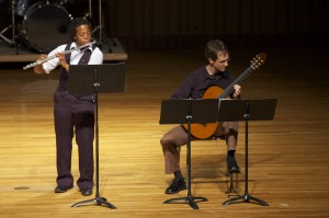 Antonio Herbert, flute with guitarist Michael Pittman, Junior Recital, April 2012