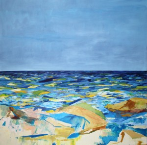 """Endless"". Betsy Byers. oil on canvas 72"" x 72"""