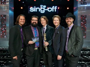 Sing-Off Champions Home Free: Tim Foust, Rob Lundquist, Austin Brown, Adam Rupp '04 & Chris Rupp '02
