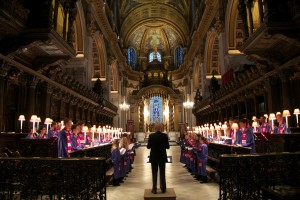 The Gustavus Choir at St. Paul's Cathedral, London