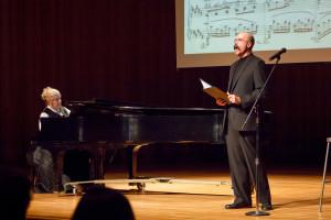 Bonnie & Michael Jorgensen at the Cormontan Recital/Lecture in Björling Recital Hall