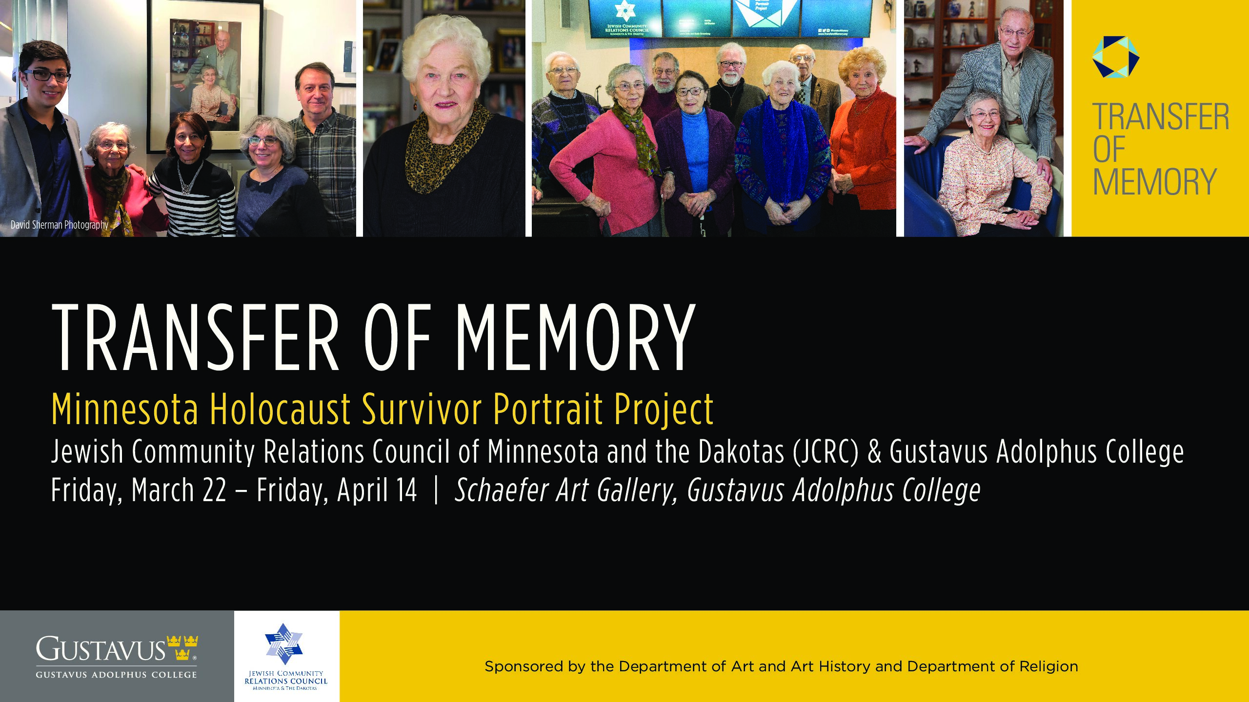 "Transfer of Memory"" Exhibit Brings Holocaust Survivors' Stories to"